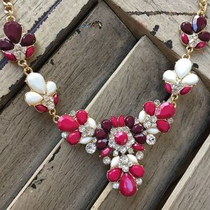 Beautiful jeweled statement necklace